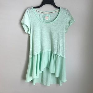 Anthropologie Postmark Mint Green Short Sleeve Top